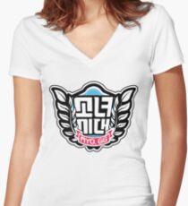SNSD: I Got A Boy - Emblem(Leaves Ver.) Women's Fitted V-Neck T-Shirt