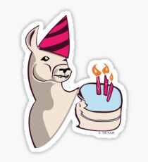 Birthday Llama Sticker