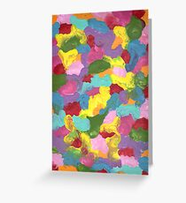 COLORFUL FRENZY ON CANVAS Greeting Card
