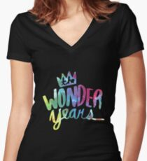 The Wonder Years Women's Fitted V-Neck T-Shirt