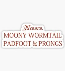 Messrs Moony, Wormtail, Padfoot and Prongs Sticker