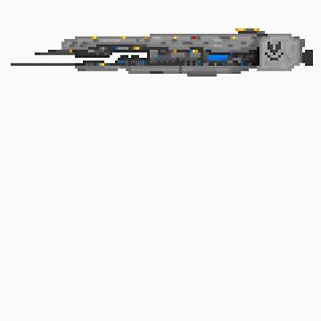 Pixel Forward Unto Dawn (Halo) Sticker by PixelBlock