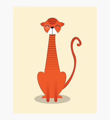 Orange Cat Photographic Print