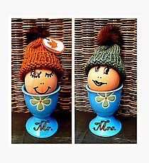 Mr. & Mrs. Egghead Photographic Print