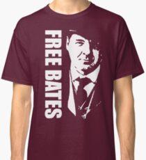 Free Bates White Stencil Design Classic T-Shirt