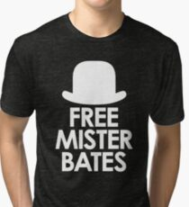 Free Mister Bates white design Tri-blend T-Shirt