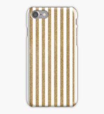Gold glitter stripes iPhone Case/Skin