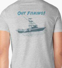 Out Fishing Mens V-Neck T-Shirt