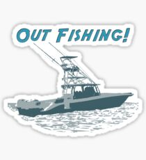 Out Fishing Sticker