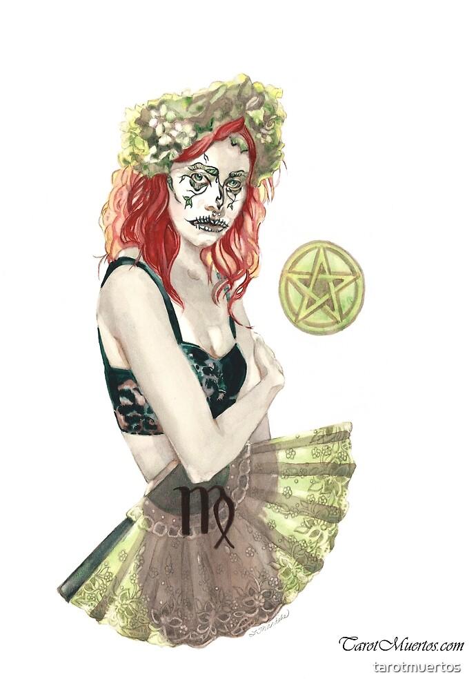 Daughter of Pentacles - Tarot - Hija de Pentaculos  by tarotmuertos
