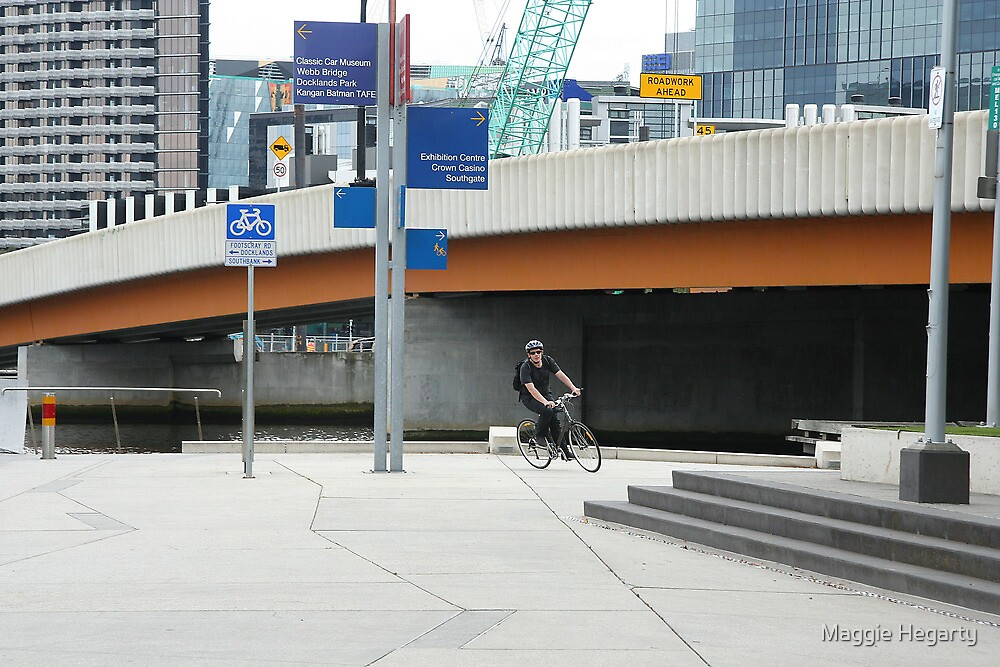 Free wheeling in the city by Maggie Hegarty