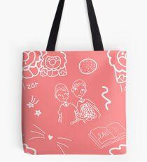 """Dan & Phil """"phan"""" Repeating Pattern Tote Bag"""