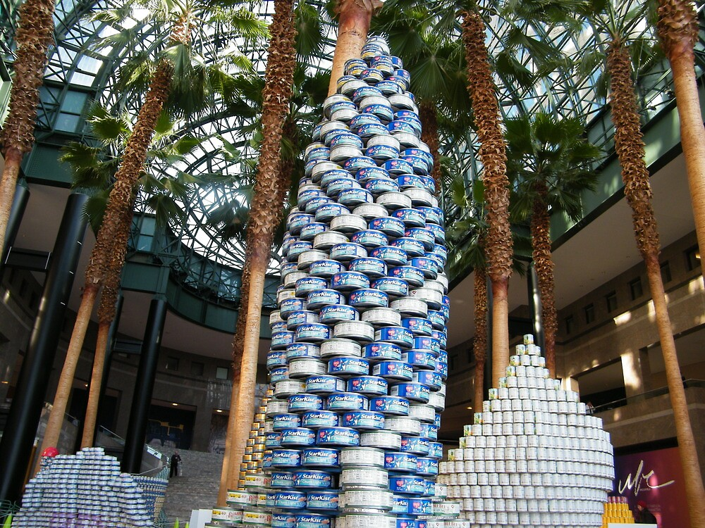 Canstruction, Artwork and Structures Made of Cans, Winter Garden, World Financial Center, New York City by lenspiro