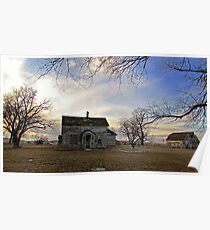 Old Prairie Homestead Poster