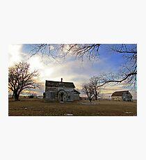 Old Prairie Homestead Photographic Print