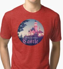 Magic Kingdom Castle Princess Typography Fairy  Tri-blend T-Shirt