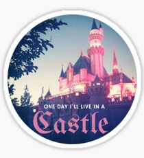 Magic Kingdom Castle Princess Typography Fairy  Sticker