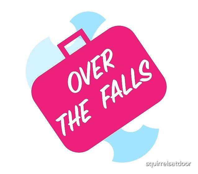 Over the Falls in a Suitcase Sticker by squirrelsatdoor