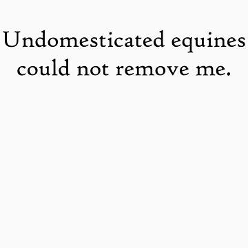 Undomesticated Equines 4 Black by CaelisMiran