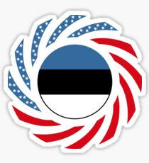 Estonian American Multinational Patriot Flag Series Sticker