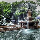 Fountain In Hyde Park Sydney by Eve Parry