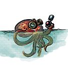 Octopod with laser gun by nyvinter
