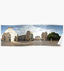 St. Peter's Church panorama, Riga, Latvia Poster