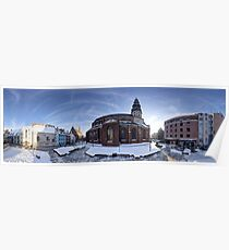 Doma square panorama, Riga, Latvia Poster