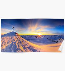 Beautiful view - Mölltaler Gletscher 3122 m in the Alps Poster