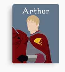 BBC Merlin - King Arthur Canvas Print