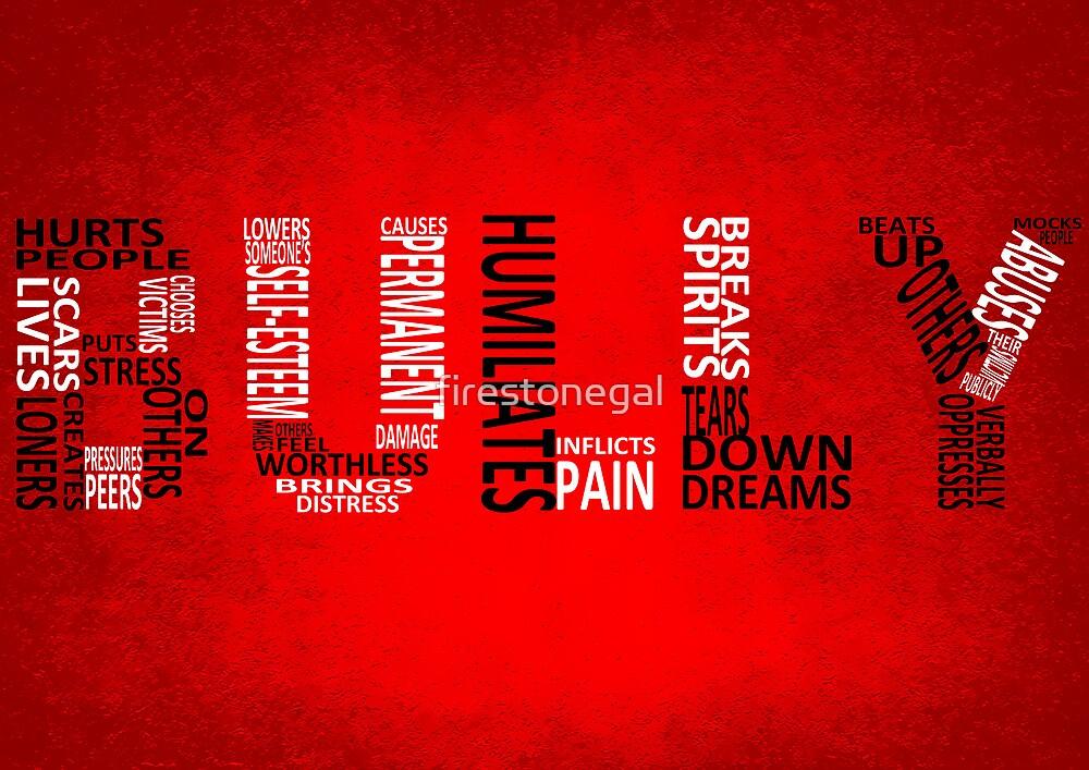 Bully - Typography poster by Gitta J