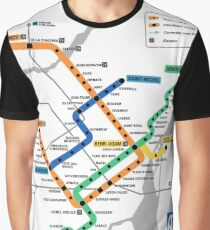 STM Montreal Metro - light background Graphic T-Shirt