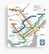 STM Montreal Metro - light background Canvas Print