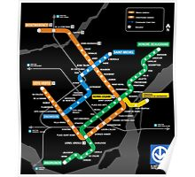STM Montreal Metro Poster