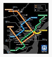 STM Montreal Metro Photographic Print