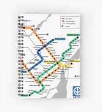 STM Montreal Metro - light background Spiral Notebook