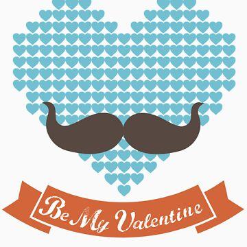 Be my valentine tee shirts designed by Kanjiz and appsreka.com by derickyeoh
