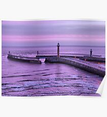 Sunrise over Whitby Poster