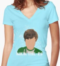 Kick The PJ Tee Women's Fitted V-Neck T-Shirt