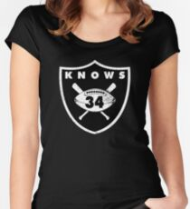 "VICTRS ""34 Knows""  Women's Fitted Scoop T-Shirt"