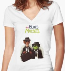The Blues Muppets Women's Fitted V-Neck T-Shirt