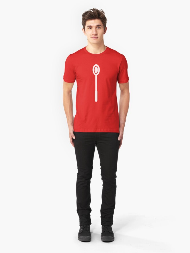 Alternate view of Big Spoon WHITE Slim Fit T-Shirt