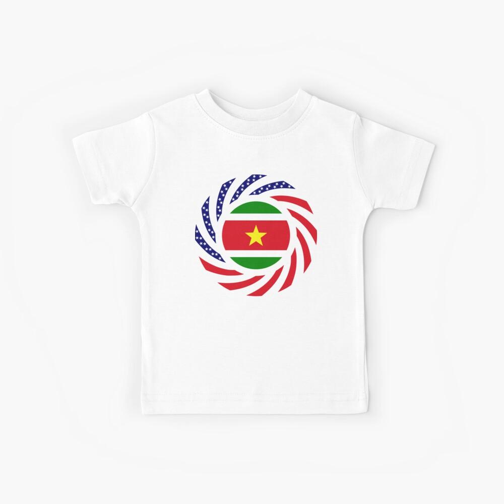 Surinamese American Multinational Patriot Flag Series Kids T-Shirt