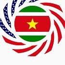 Surinamese American Multinational Patriot Flag Series by Carbon-Fibre Media