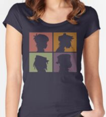 Gorillaz - Demon Days (Silhouette) Women's Fitted Scoop T-Shirt