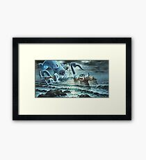 Kraken Attack! Framed Print