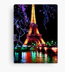 Eiffel in the lights Canvas Print