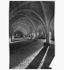 The Cellarium - Fountains Abbey Poster