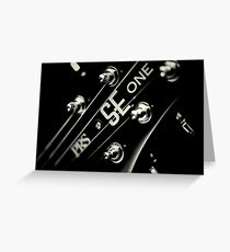 PRS SE One Headstock 3 Greeting Card