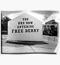 free derry wall Poster